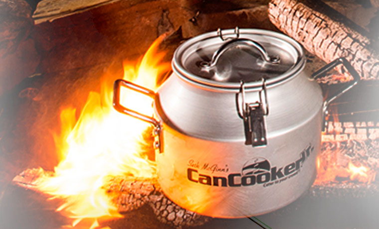 Can cooker on a campfire