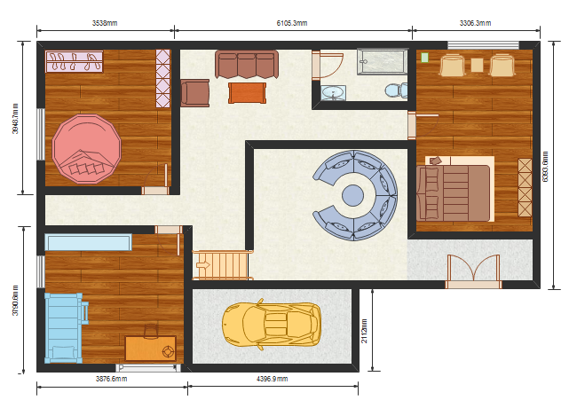 colored home plan template